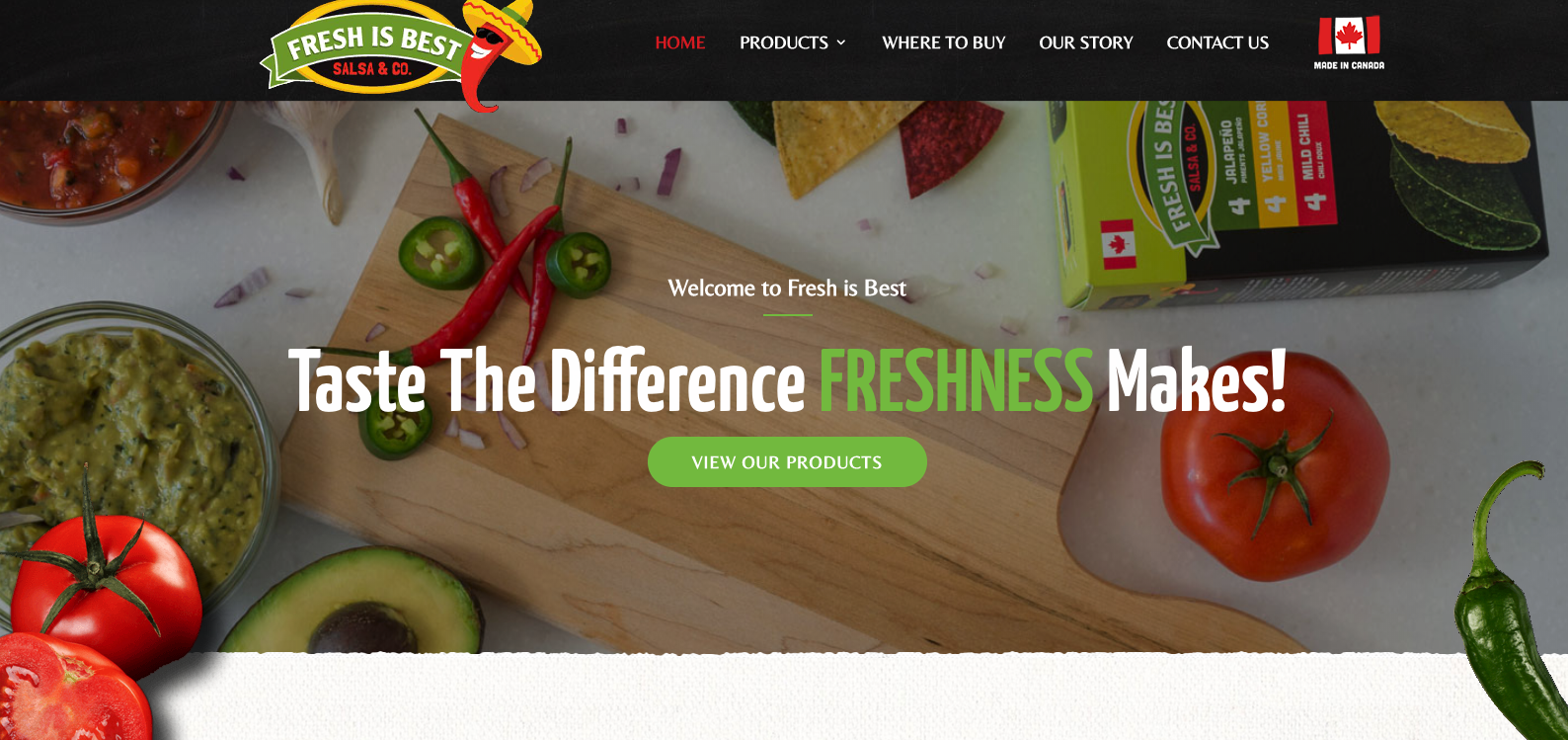 Fresh is Best homepage