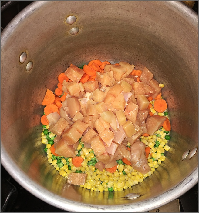 Chicken-Peas-Corn-and-Carrots-in-Pot