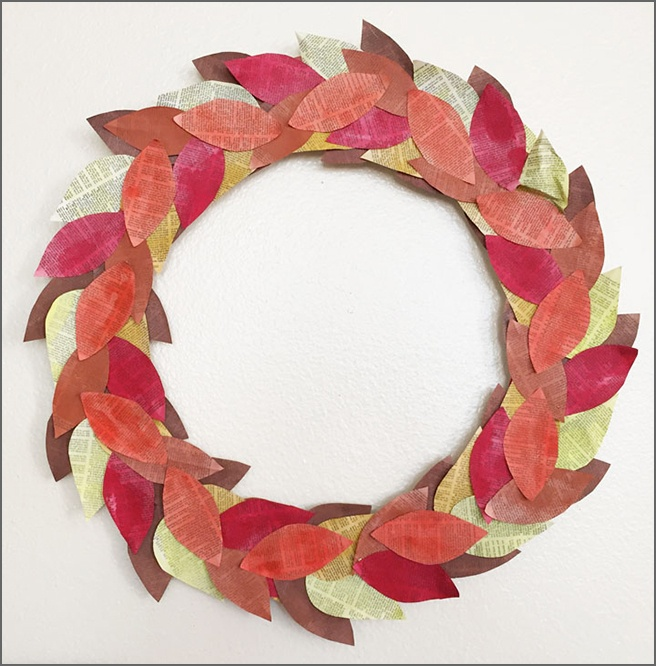 Autumn-Book-Page-Wreath