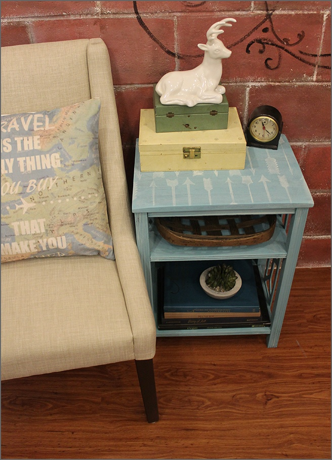 Finished-Stenciled-End-Table