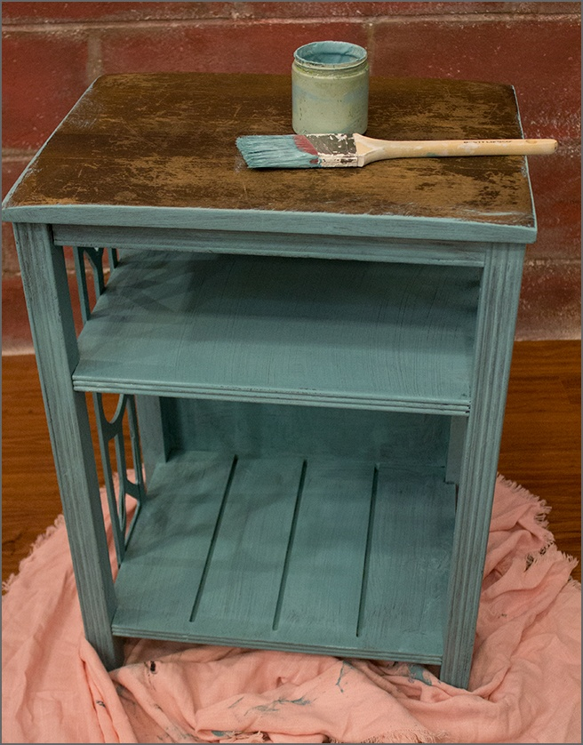 Painting-Serenity-Blue-End-Table-1
