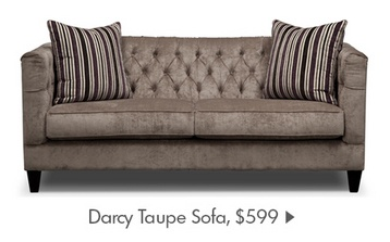 Darcy Taupe Sofa