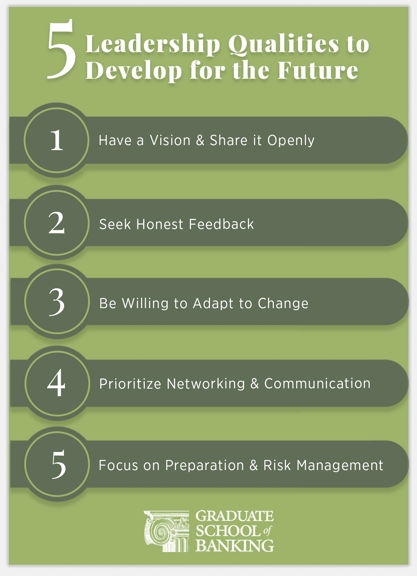 leadership qualities infographic