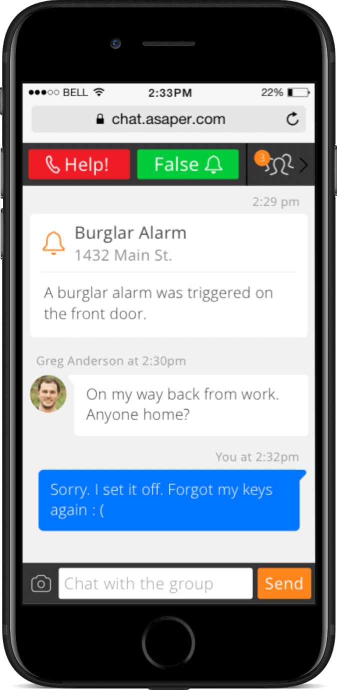 Mobile alarm system control with the LiveWatch app