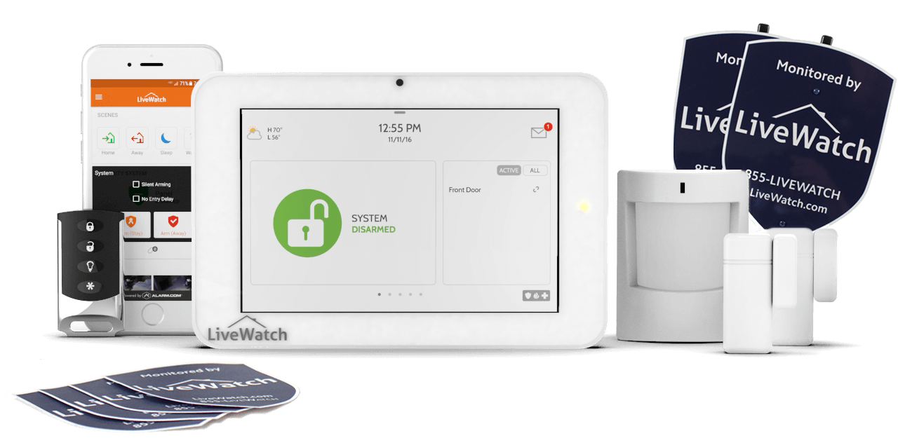 Self Install Home Security compare livewatch to simplisafe | livewatch security