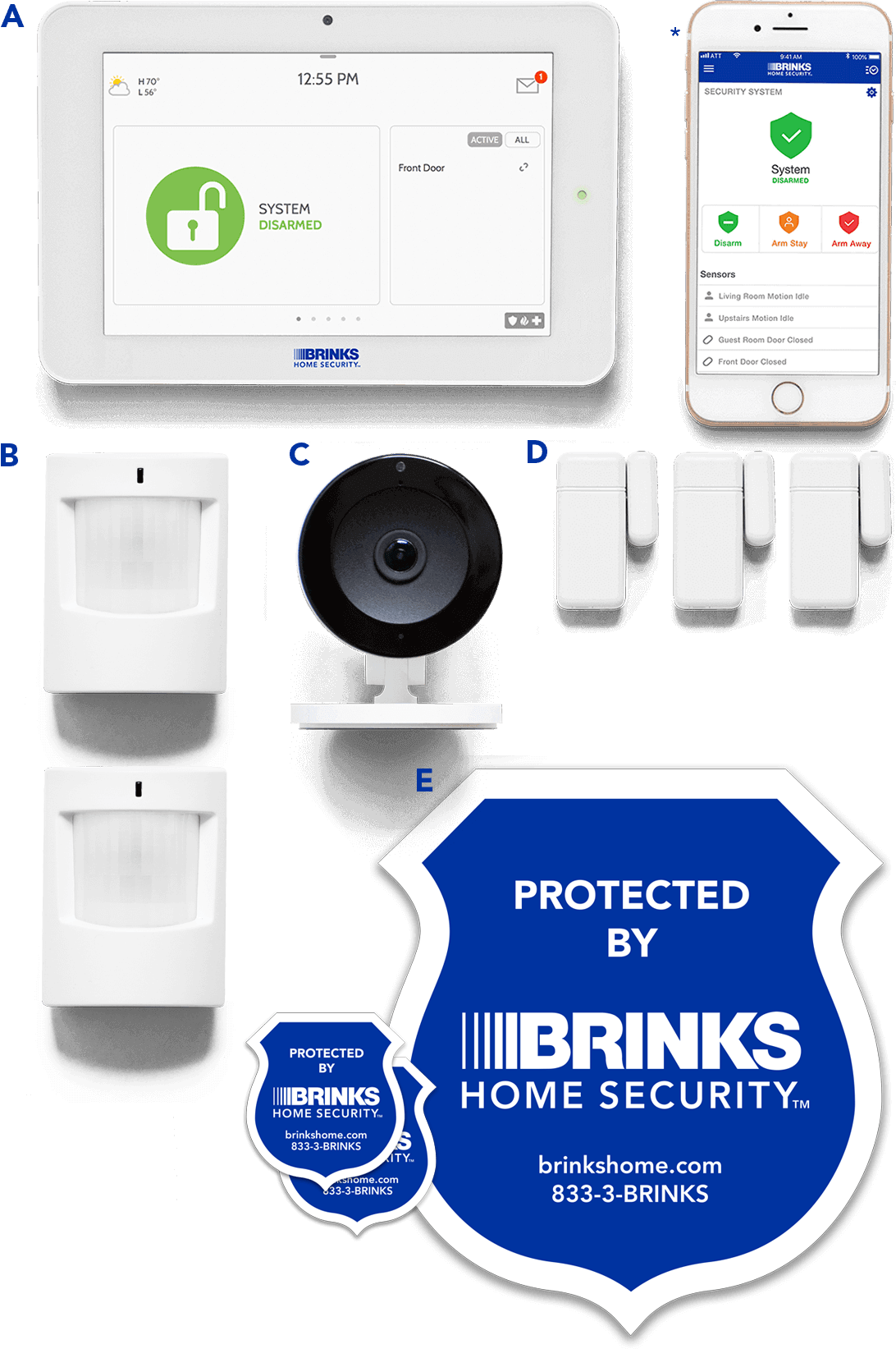 Brinks Home Security Smart Security  Complete Package