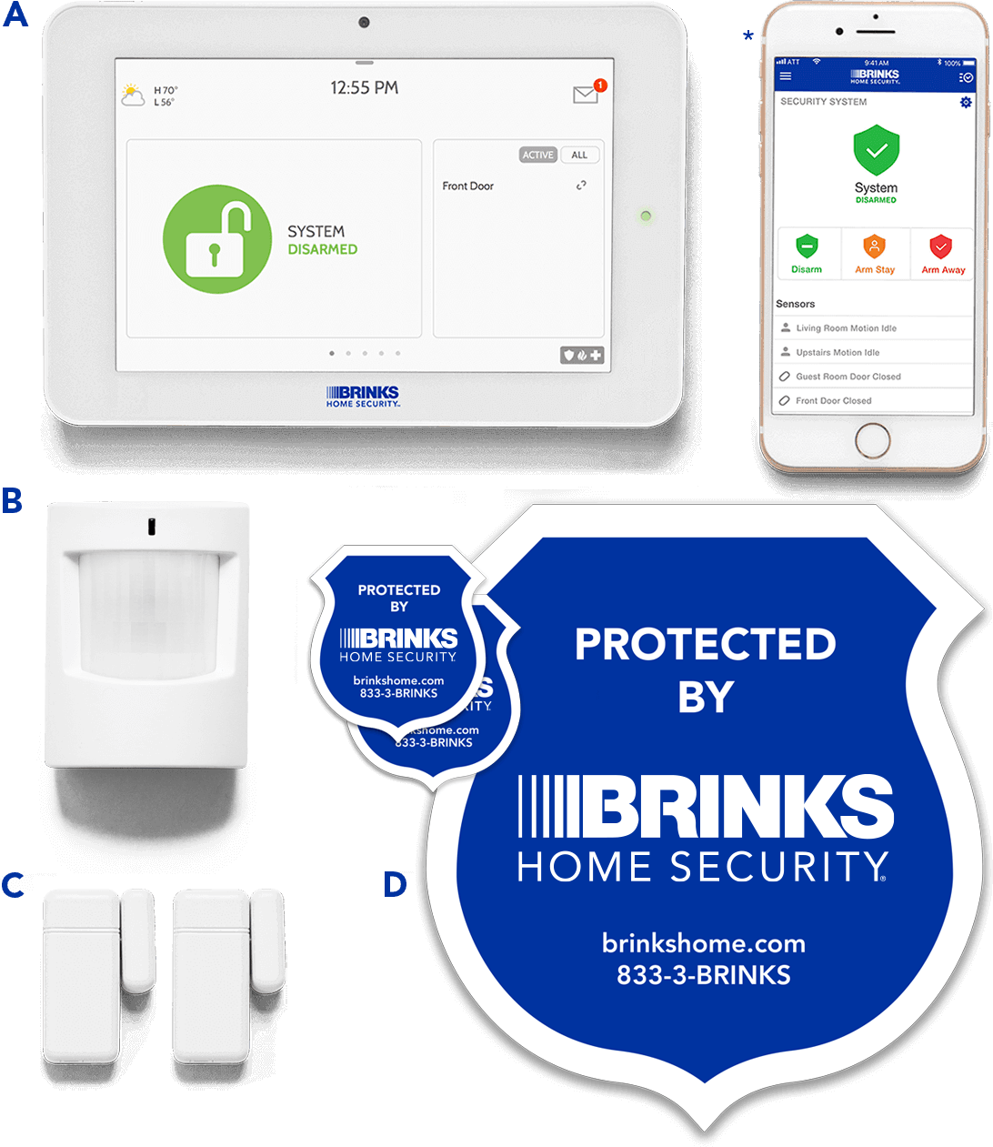 Brinks Home Security Smart Security Essentials Package
