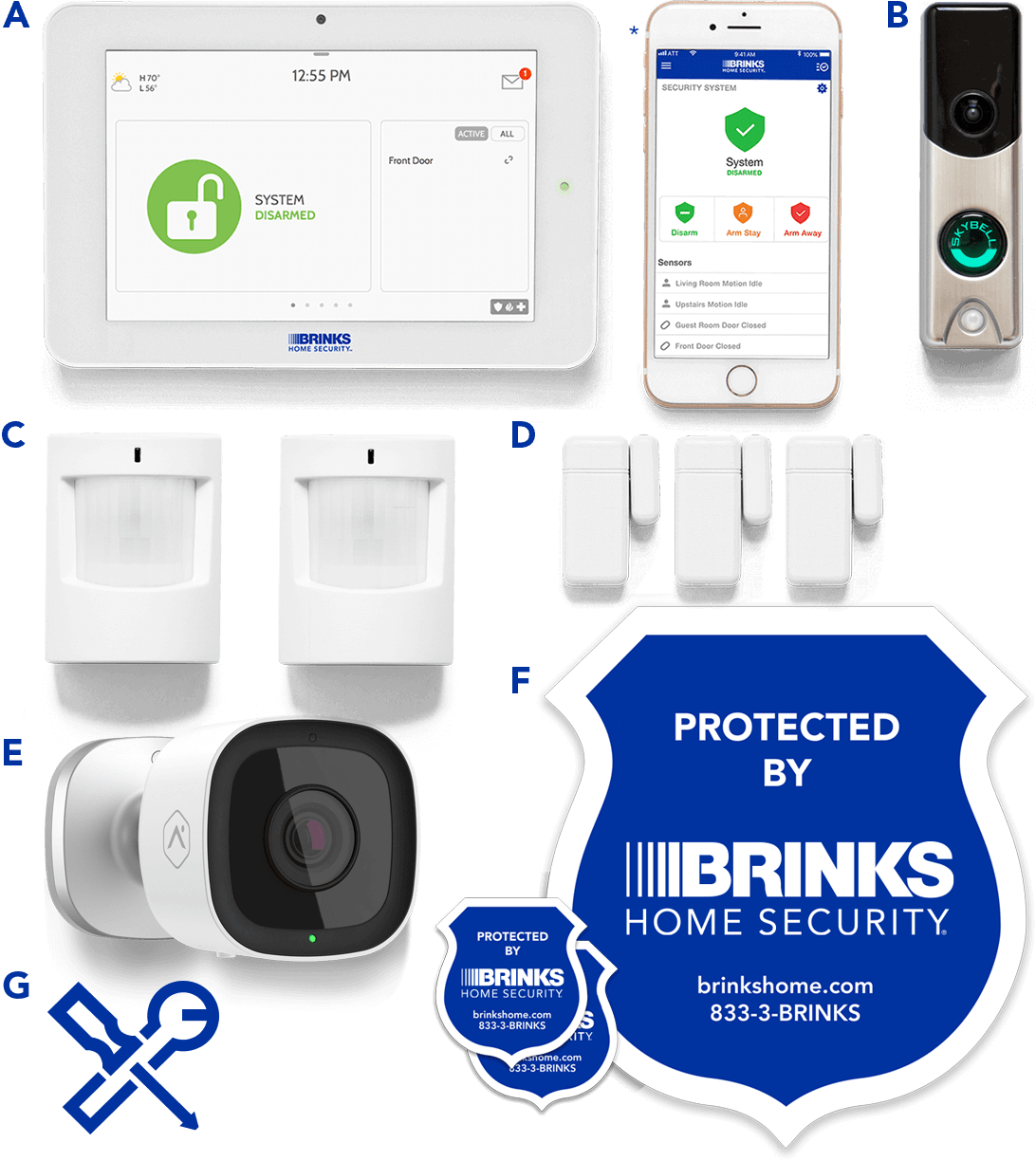 Brinks Home Security Smart Security Ultimate Security System Package