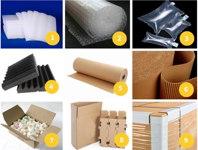 Consejos de embalaje - Materiales