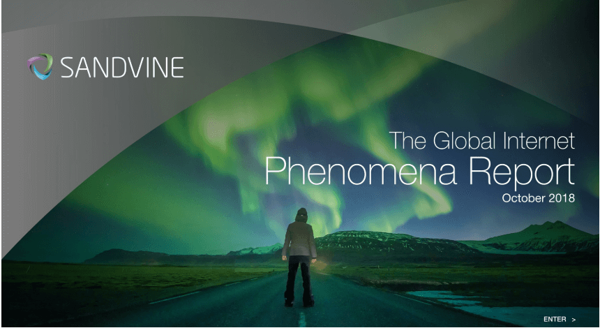 Sandvine Global Internet Phenomena Report October 2018
