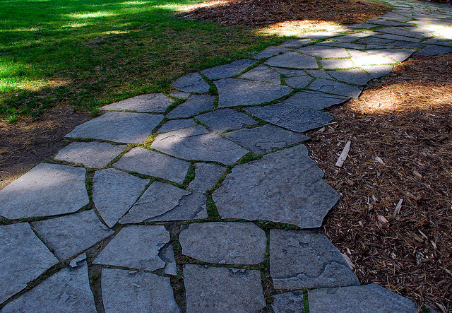 natural stone is one of the best pathway materials for high traffic areas