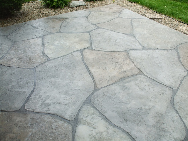 stamped concrete is a popular finish for commercial hardscaping with concrete