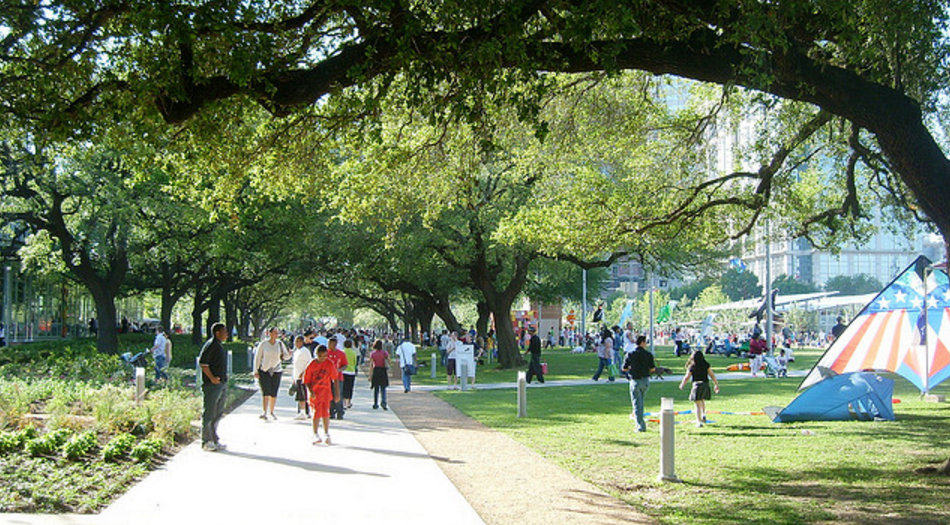 Discovery Green is an urban renewal project in Houston