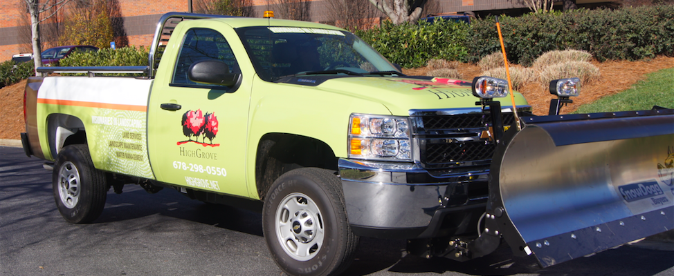 HighGrove Partners snow and ice removal crews are equipped with state-of-the-art vehicles and tools