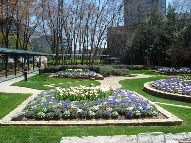 Landscaping Features in Atlanta Office Park