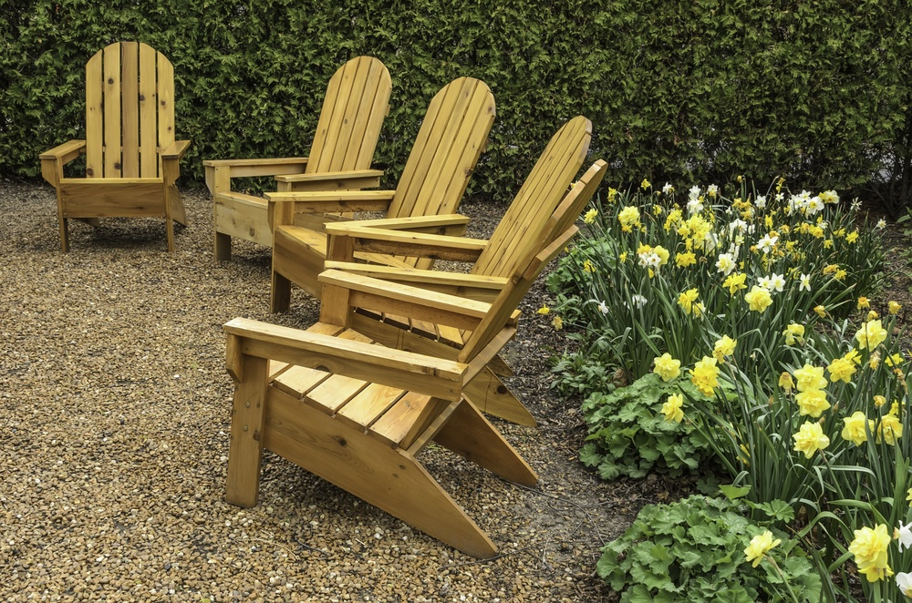 Five Wooden Arm Chairs
