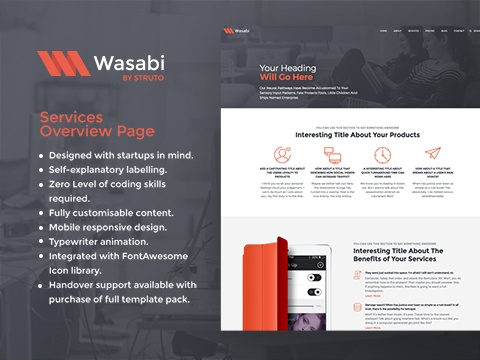 wasabi services overview template