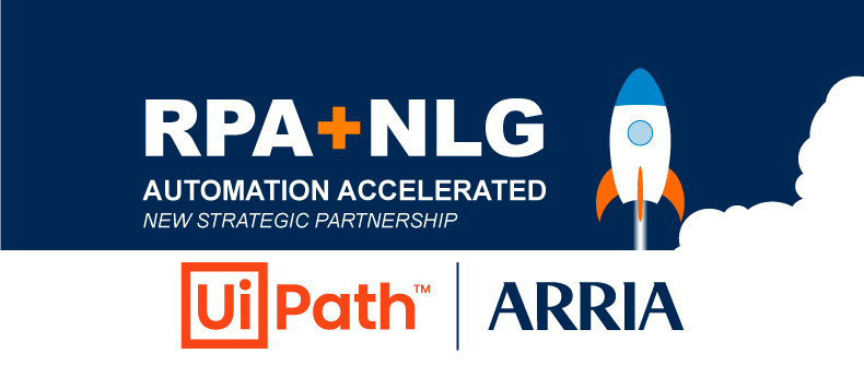 Arria NLG and UiPath push digital transformation and automation