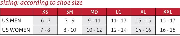 ATF® 2 Ankle Brace Size Chart
