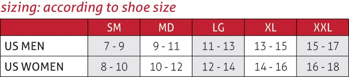 OMNIForce™ Ankle Support A-700 Size Chart