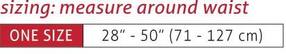 Adjustable Back Brace Size Chart