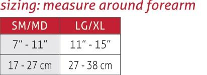 Hg80 Premium Elbow Brace Size Chart