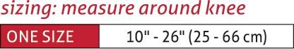 Muellerhinge 2100 Knee Brace Size Chart