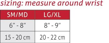 Hg80 Premium Wrist Brace Size Chart