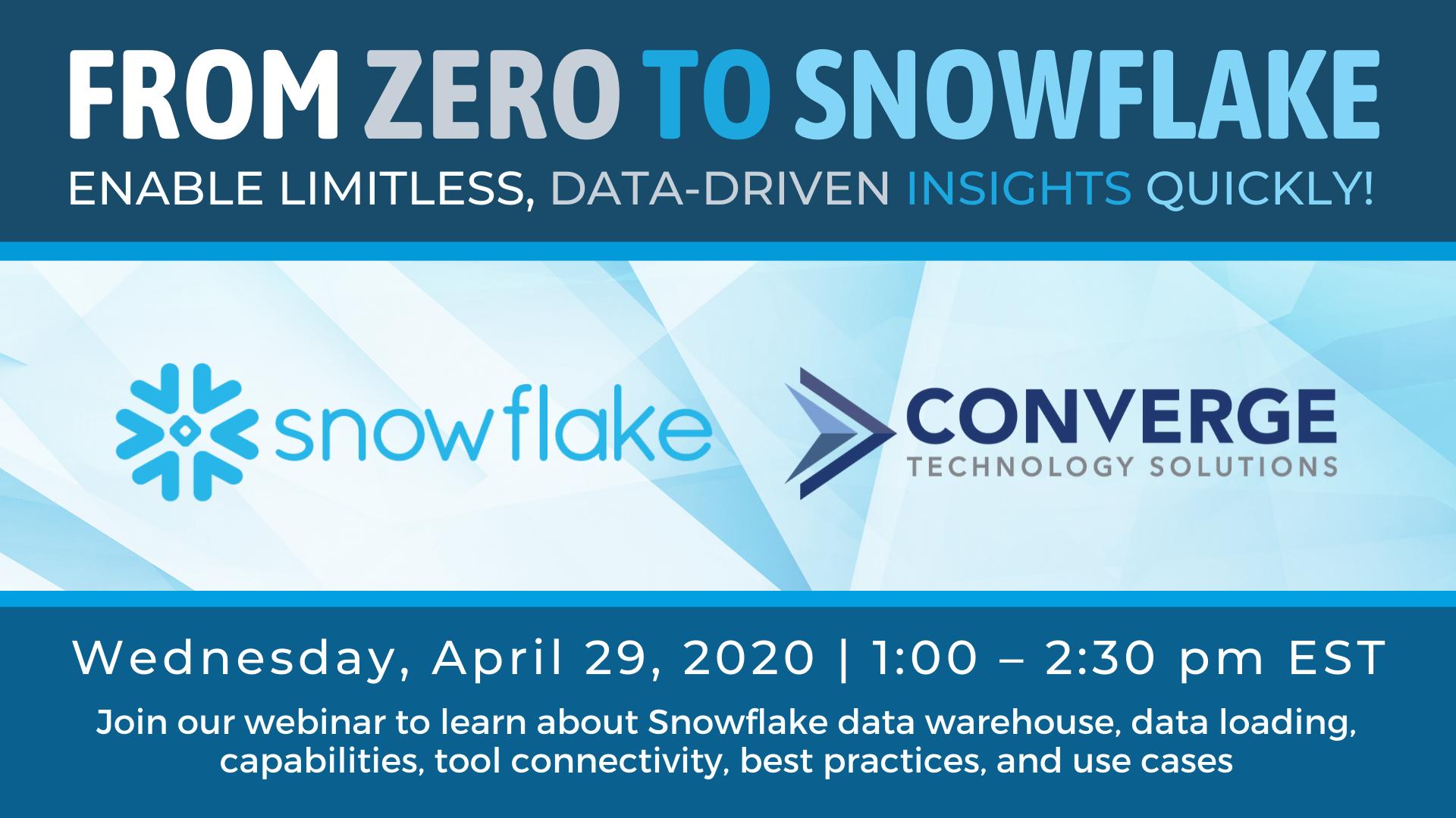 From Zero to Snowflake