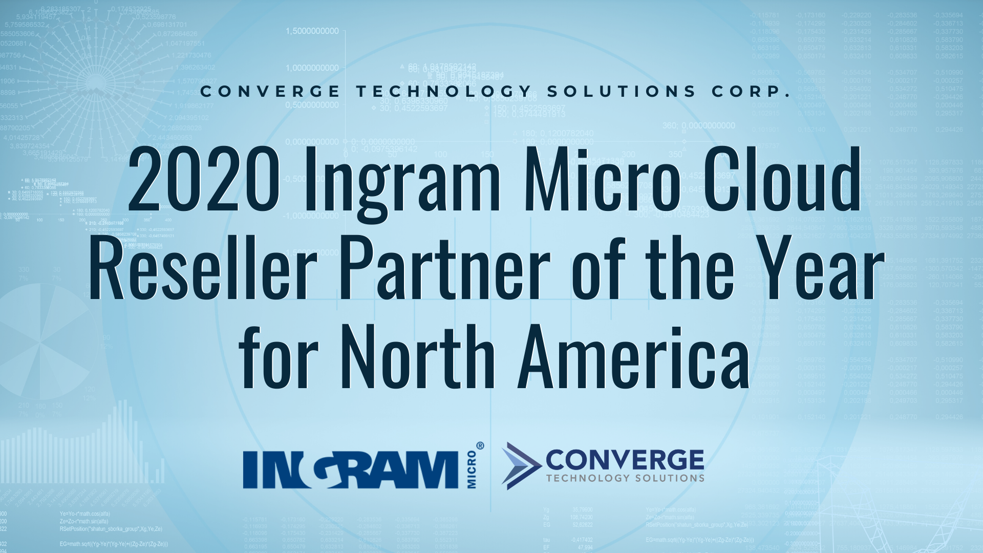 Converge Wins 2020 Ingram Micro Cloud Reseller Partner of the year for North America