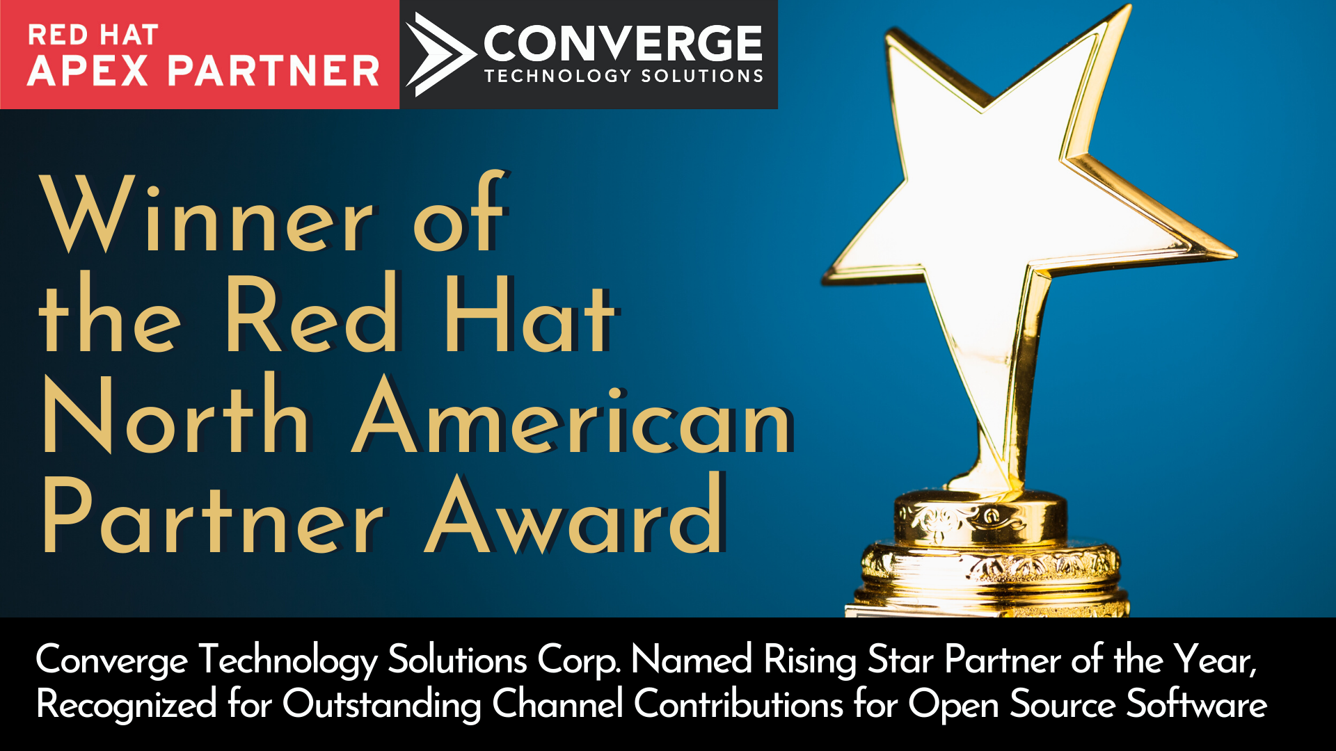 Converge Wins Red Hat  North American Partner Award