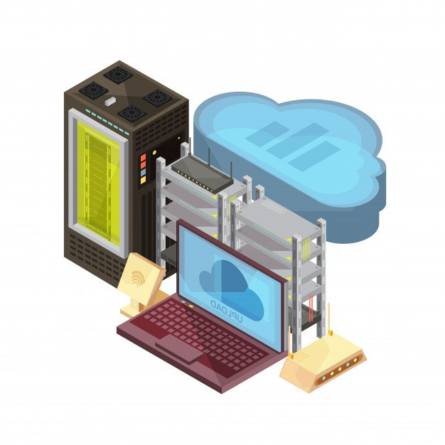 isometric-composition-with-data-cloud-laptop-hosting-server-router-wifi-white-background-vector-illustration_1284-19949