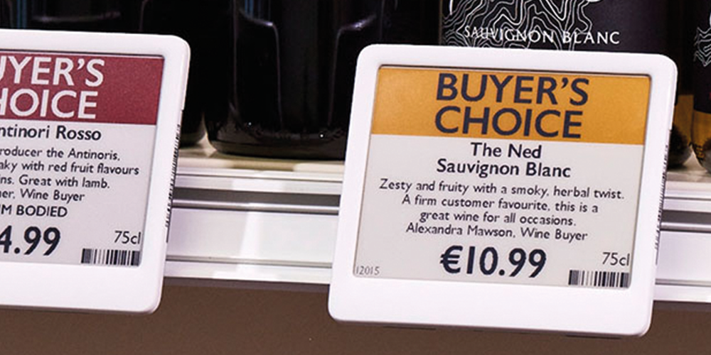 Electronic Shelf Labels To Quickly Change Prices