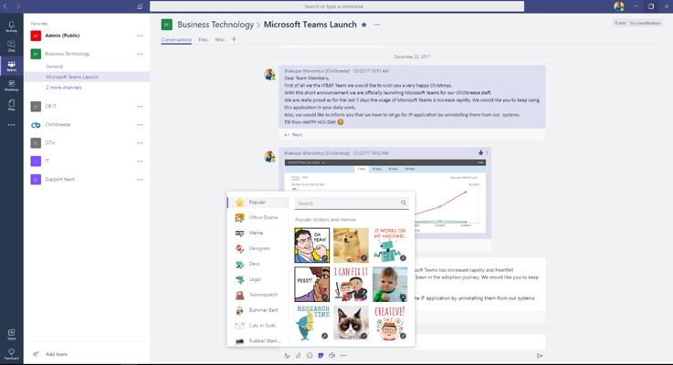 Microsoft Team Chat