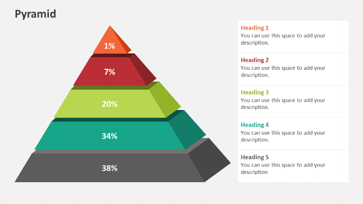 3D Pyramid Powerpoint design elements