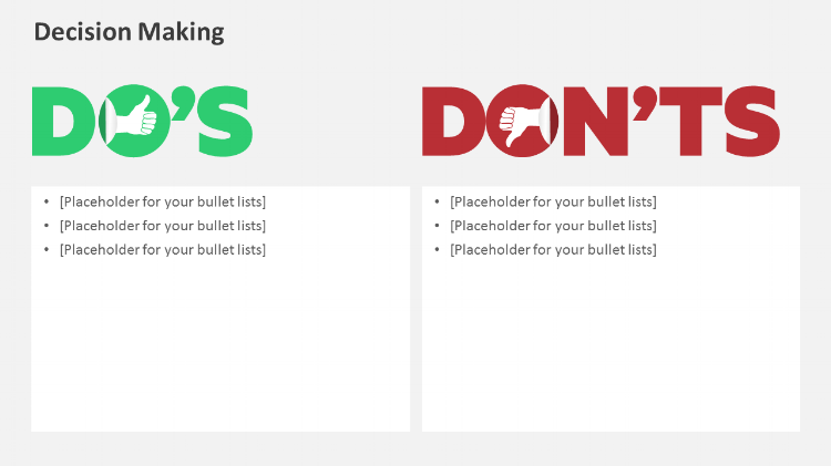 Do's and Dont's Powerpoint design elements
