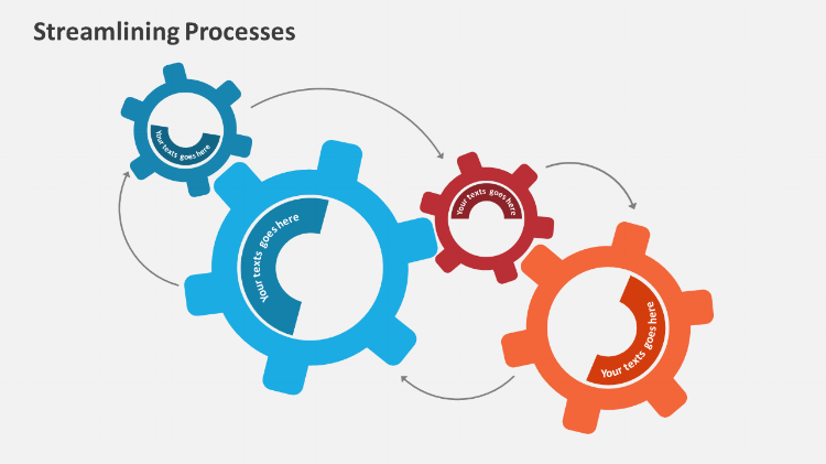 Streamlining Process Powerpoint design elements