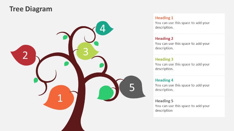 Tree Diagram Powerpoint design elements