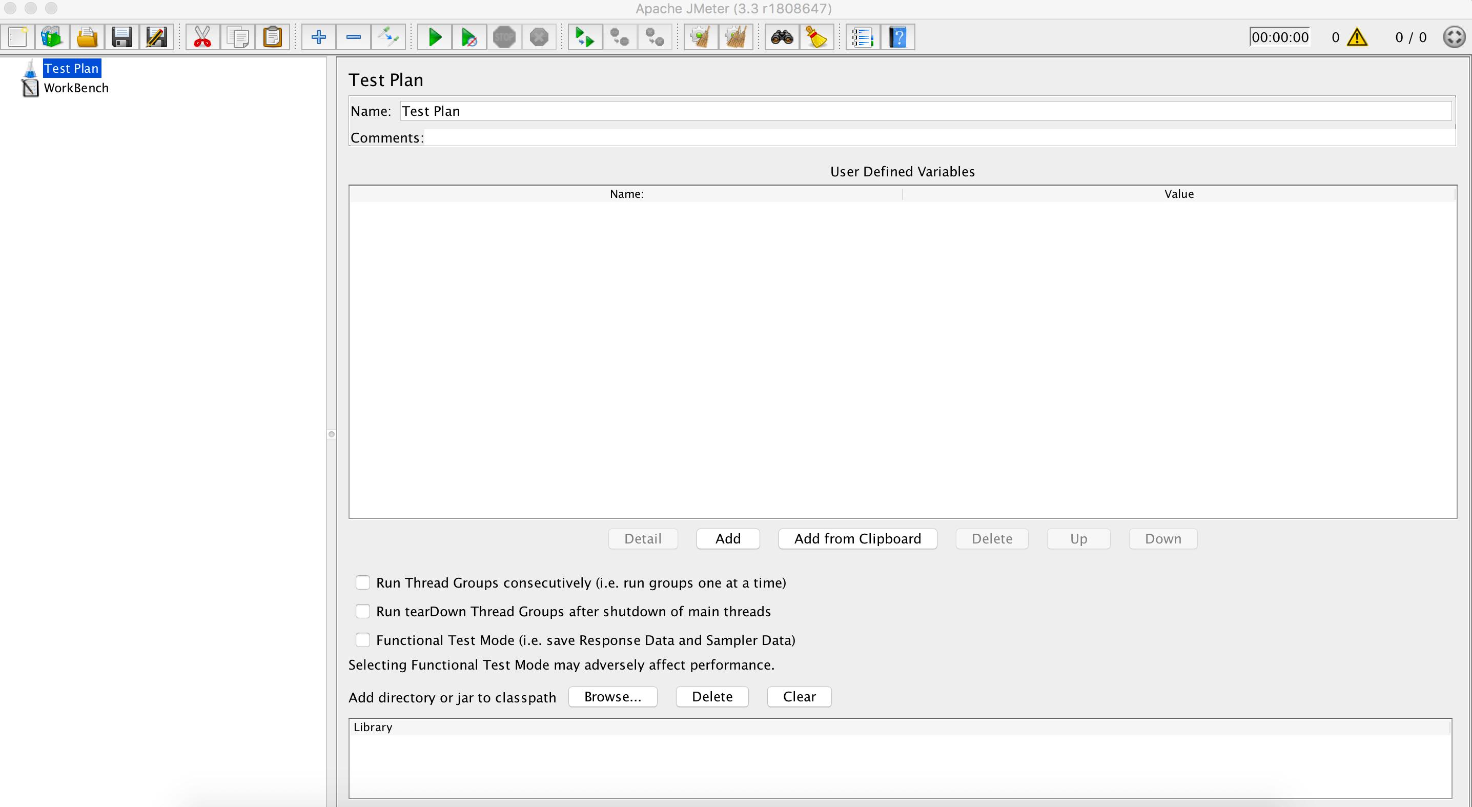 JMeter view - test plan
