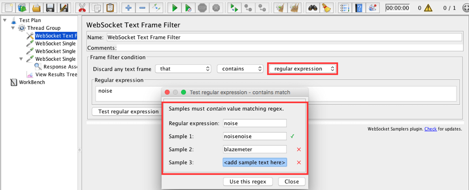 JMeter WebSocket Samplers - How to Use Config Elements and