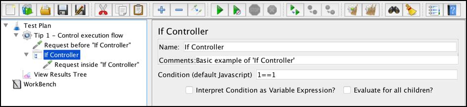 jmeter if controller best practices