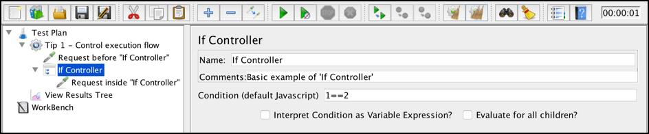 adavanced usage jmeter if controller