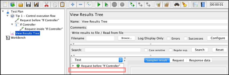 jmeter if controller tips