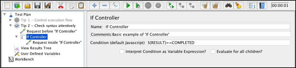 what should i do with the jmeter if controller?