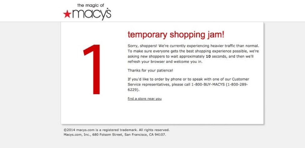 Macy's website and app crash on Black Friday
