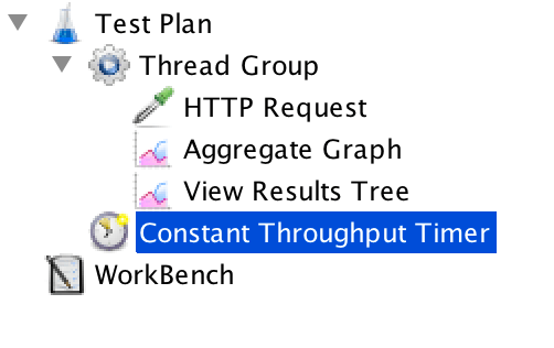 throughput constant timer