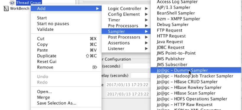 jmeter add dummy sampler