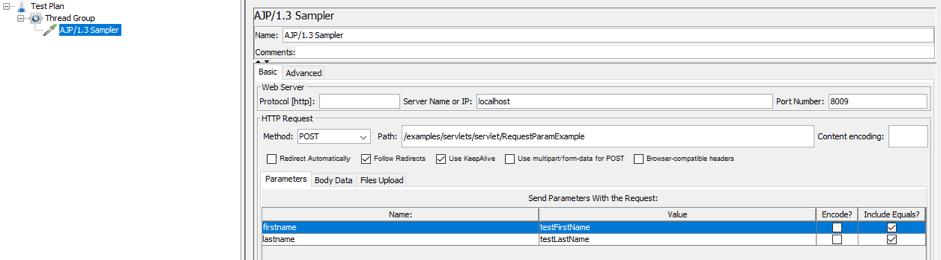 jmeter guide for testing ajp