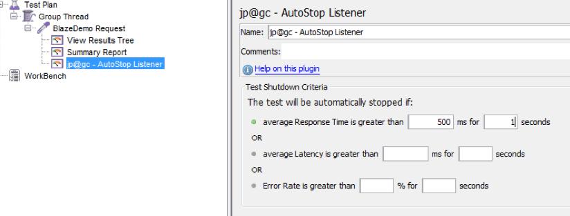 jmeter autostop listener tutorial