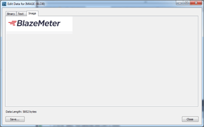 reading blob images with jmeter